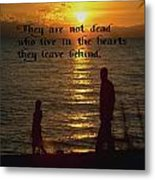 Live In The Heart Metal Print