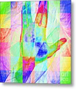Live Long And Prosper 20150302v1 Color Squares Sq Metal Print