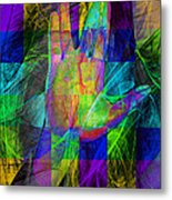 Live Long And Prosper 20150302v2 Color Squares With Text Metal Print