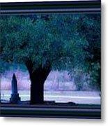 Live Oak Tree In Cemetery Metal Print
