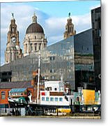 Liverpool Docklands Metal Print
