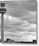 Liverpool Skyline With Radio City Tower Metal Print