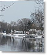 Living By The River Metal Print