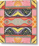 Living In The Pink 1 - Tjod X V I Arrangement Metal Print