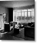 Living Room In The Ny Home Of Edward M. M Metal Print