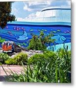 Living Seas Signage Walt Disney World Metal Print