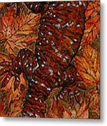 Lizard In Red Nature - Elena Yakubovich Metal Print by Elena Yakubovich