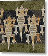 Lizards On The Wall Metal Print