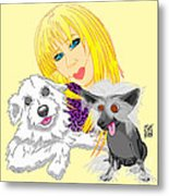 Lizzie And Dimey And Pinny Metal Print