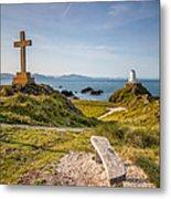 Llanddwyn Island Bench Metal Print