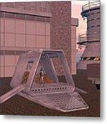 Loading A Cargo Pod Metal Print
