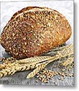 Loaf Of Multigrain Bread Metal Print