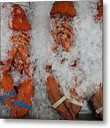 Lobster At Woodman's Metal Print