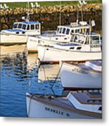 Lobster Boats - Perkins Cove -maine Metal Print