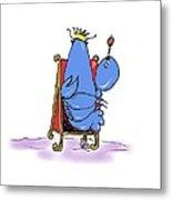 Lobster King Blue-blooded Crustacean Metal Print