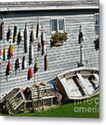 Lobster Pots And Buoys Metal Print