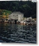 Lobster Pots And Old Stage Metal Print