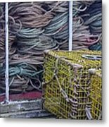 Lobster Traps And Ropes Metal Print by Stuart Litoff