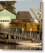 Lobster Traps On Dock Metal Print