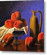 Local Peaches Oil Painting Metal Print
