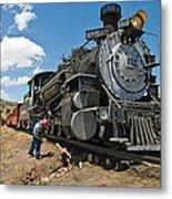 Locomotive Engineer Metal Print