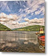 Loch Fyne Digital Painting Metal Print
