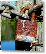 Lock And Chain Metal Print