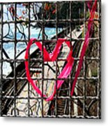 Lock And Love.cinque Terre.italy Metal Print
