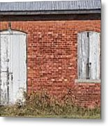 Locked And Shuttered Metal Print