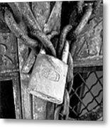 Locked - Black And White Metal Print