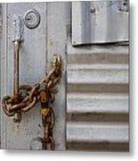 Locked Metal Print by Peter Tellone