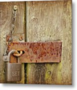 Locked Shut Metal Print