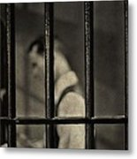 Locked Up Black And White Metal Print