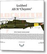 Lockheed Ah-56 Cheyenne Metal Print by Arthur Eggers