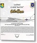 Lockheed C-141b Starlifter Golden Bear Metal Print