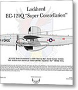 Lockheed Ec-121q Gold Diggers Metal Print by Arthur Eggers