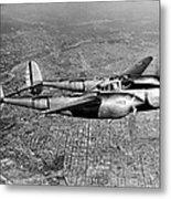 Lockheed P-38 Lightning Fighter Metal Print