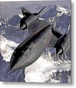 Lockheed Sr-71 Blackbird Metal Print