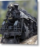 Locomotive 639 Type 2 8 2 Front And Side View Metal Print