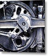 Locomotive Drive Wheels Metal Print by Olivier Le Queinec