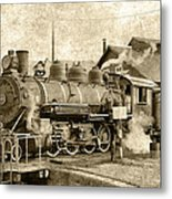 Locomotive No. 15 In The Yard Metal Print