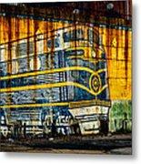 Locomotive On A Wall Metal Print