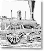 Locomotive Sandusky, 1837 Metal Print