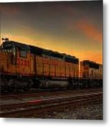Locomotive Sunset Metal Print