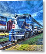 Locomotive Wabash E8 No 1009 Metal Print