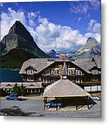 Lodge At Many Glacier, Glacier National Metal Print