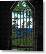 Lodge Window At The Clearing Metal Print