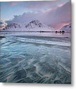 Lofoten Island Sunrise Metal Print