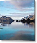 Lofoten Islands Water World Metal Print