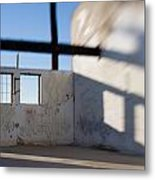 Loft For Rent  Burnt Out Building Or Wharehouse Metal Print